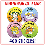 I Bumped My Head Stickers (400 Stickers - 32mm) Brainwaves