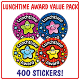 Lunchtime Award Stickers (400 Stickers - 32mm) Brainwaves