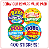 Behaviour Reward Stickers (400 Stickers - 32mm) Brainwaves