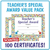 Scented Jellybean Certificates - Teacher's Special Award (100 Certificates - A5)