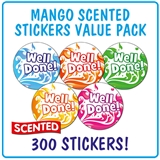 Scented Stickers Value Pack - Mango Splash (300 Stickers - 25mm)