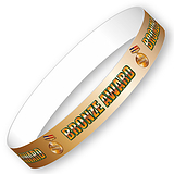 Bronze Award Adhesive (10 Wristbands - 265mm x 18mm)