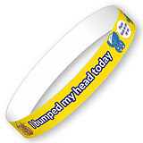 I bumped my head today Wristbands (10 Wristbands - 265mm x 18mm)