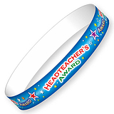 Headteacher's Award Wristbands - Blue (10 Wristbands - 220mm x 13mm) Brainwaves