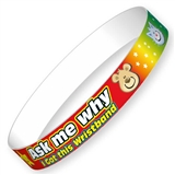 Ask Me Why Rainbow Wristbands (10 Wristbands - 230mm x 18mm)