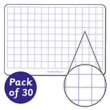 Squared Mini Whiteboards (A4 - Pack of 30)