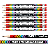 100% Attendance Award Foil Pencils (12 Pencils) Brainwaves