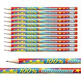 100% Attendance Pencils (12 Pencils) Brainwaves