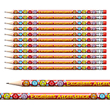 Excellent Attendance Foil Pencils (12 Pencils) Brainwaves