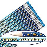 100% Attendance Pencils - Blue (12 Pencils) Brainwaves
