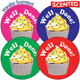 Scented Vanilla Stickers - Cupcake (35 Stickers - 37mm)