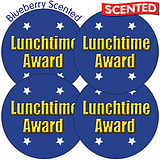 Scented Blueberry Stickers - Lunchtime Award (35 Stickers - 37mm)