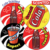 Cola Scented Stickers  37mm  x 35