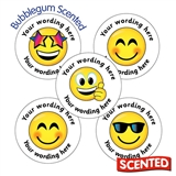Personalised SCENTED Emoji Stickers - Bubblegum (70 Stickers - 25mm)
