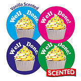 Scented Vanilla Stickers - Well Done (20 Stickers - 32mm)