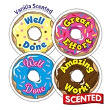 Scented CINNAMON Stickers - Doughnut (20 Stickers - 32mm)