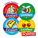 Scented Cherry Stickers - Excellent (20 Stickers - 32mm)