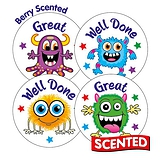 Berry Scented Stickers - Monster Well Done (20 Stickers - 32mm)