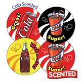 Scented Cola Stickers (20 Stickers - 32mm)
