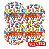 Scented Jellybean Stickers - Great (20 Stickers - 32mm)