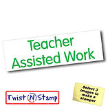 Teacher Assisted Work Twist & Stamp Stamper Brick (38mm x 15mm)