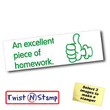 An Excellent Piece of Homework Twist & Stamp Stamper Brick (38mm x 15mm)