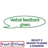 Verbal Feedback Given Twist & Stamp Brick Stamper