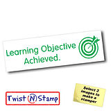 Learning Objective Achieved Target Stamper - Twist N Stamp