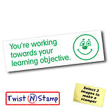 Towards Learning Objective Stamper - Twist N Stamp