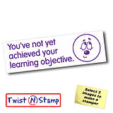 Not Achieved Learning Objective Unsure Twist & Stamp Brick Stamper