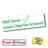 Lesson Objective Achieved Stamper - Twist N Stamp