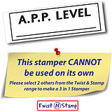 A.P.P. Level Twist & Stamp Brick Stamper - Black Ink (38mm x 15mm)