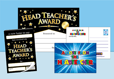 Head Teacher Certificates and Notes Home