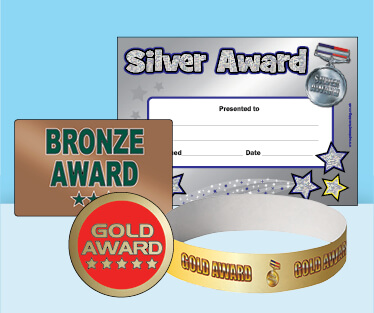 Gold, Silver and Bronze Products for Sports Day