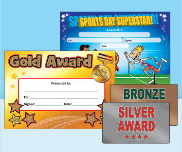 Sports Day Certificates and certifi-CARDS