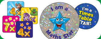 Shop Times Tables School Stickers