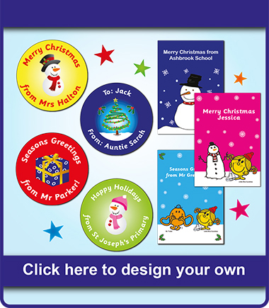 Personalised christmas cards stickers and more