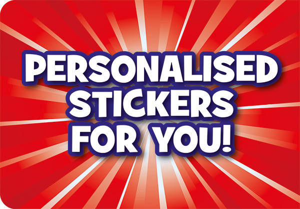 Get personal with your rewards with our personalised stickers
