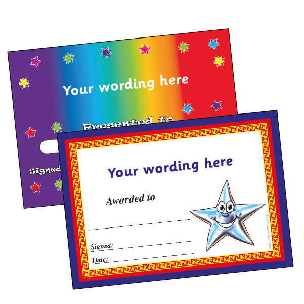 PERSONALISE YOUR CERTIFICATES FROM 24P EACH