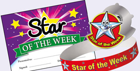 School Star of the Day/Week stickers, certificates and badges