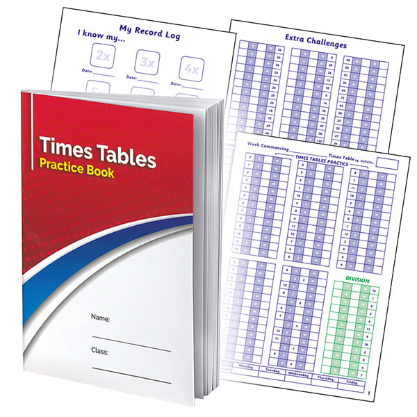 Times Tables Practice Record Book for Primary School