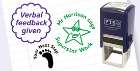 School Stampers for marking in Primary and Secondary including customised.