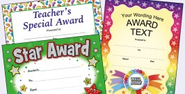 School Certificates to reward Attendance, Behaviour and Star of the Week.