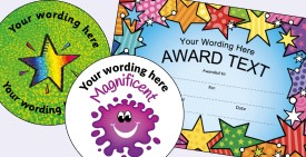 School Personalised Stickers, Teacher Stampers, and Certificates