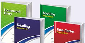 Home School Reading and Spelling Record Books and Primary School Homework Diaries.
