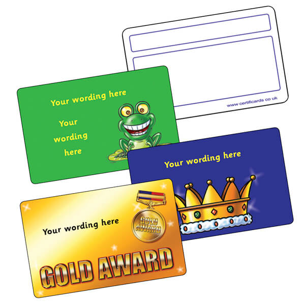 Personalised CertifiCARDS