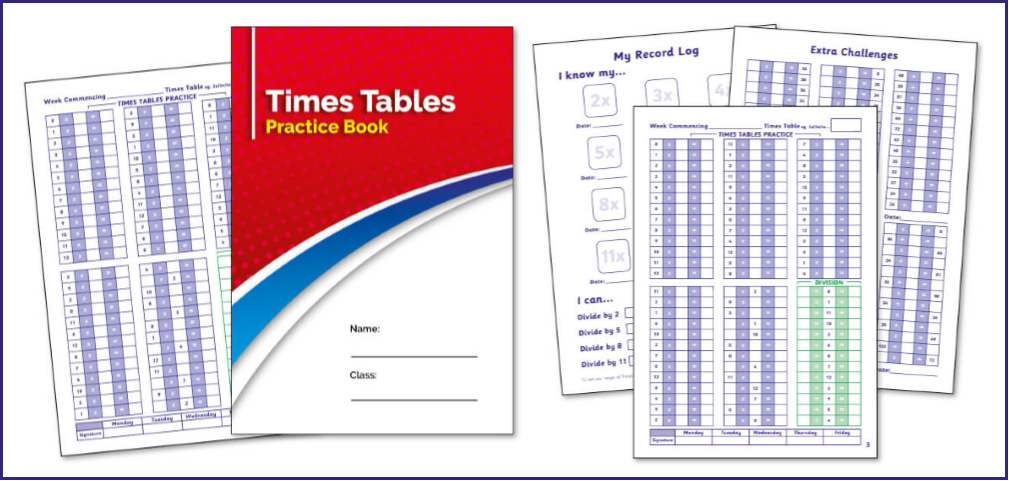 The New Multiplication Practice Book from PTS