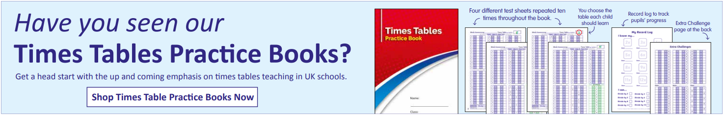 Times Table Practice Books