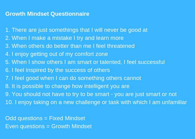 Growth Mindset Barriers