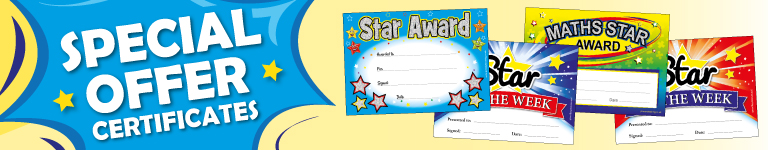 Blog Banner Saying Special Offer School Certificates